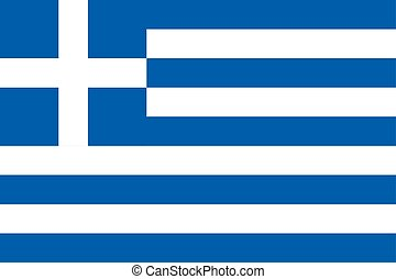The Flag of Greece. National symbol of the state. Vector illustration.