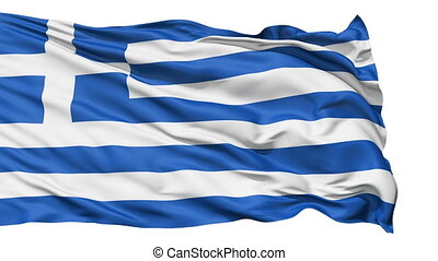 The Flag of Greece - National waving Flag of Greece (also...