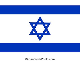The Flag of Israel. National symbol of the state. Vector illustration.