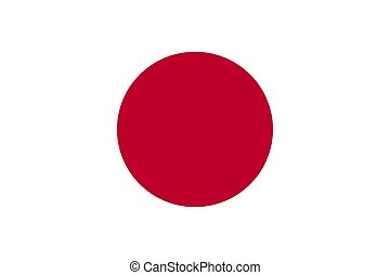 The Flag of Japan. National symbol of the state. Vector illustration.