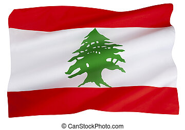 The flag of Lebanon