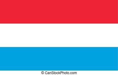 The Flag Of Luxembourg. National symbol of the state. Vector illustration.
