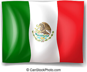 The flag of Mexico - Illustration of the flag of Mexico on a...