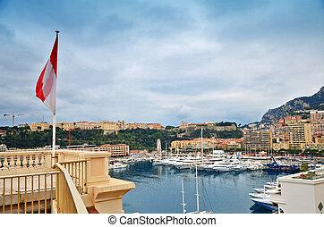 The flag of Monaco and Monte Carlo
