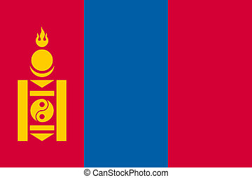 The flag of Mongolia,  flat style