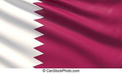 The flag of Qatar