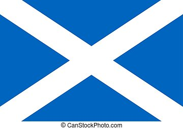 The flag of Scotland. Vector illustration. The Saltire