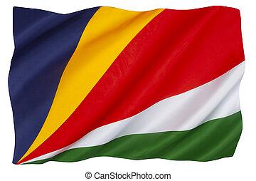 The flag of Seychelles