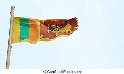 The flag of Sri Lanka