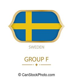 The flag of Sweden is made in the style of the Football World Cup