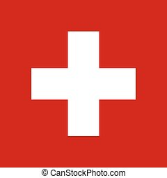 The Flag Of Switzerland. National symbol of the state. Vector illustration.