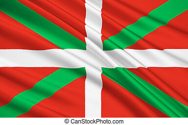 The flag of the Basque Country, Spain - Flag of Basque...
