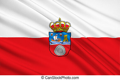The flag of the Cantabria, Spain - Flag of Cantabria is a...