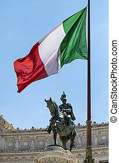 The flag of the Italian Republic