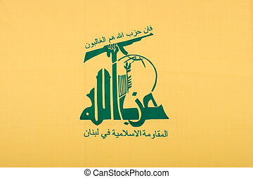 The flag of the Lebanese terrorist organization Hezbollah
