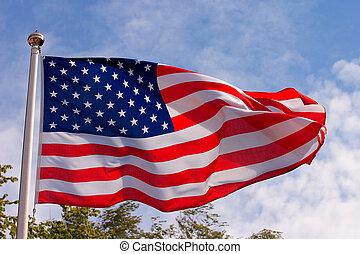 The flag of USA