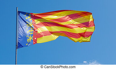 The Flag of Valencia, Spain