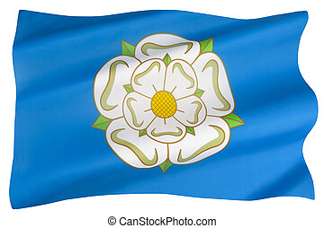 The flag of Yorkshire - England