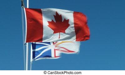 The Flags Of Canada, Newfoundland And Labrador
