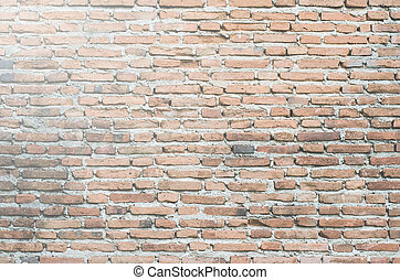 The flap white brick wall background.