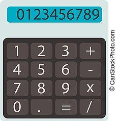flat calculator vector illustration