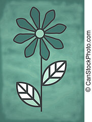 The flower icon is simple, on a green background.