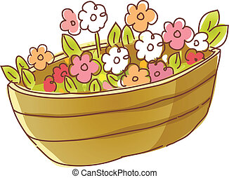 The flowers in a flower pot