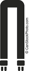 The fluorescent light bulb icon. Lamp and bulb, lightbulb symbol.UI. Web. Logo. Sign. Flat design. App.
