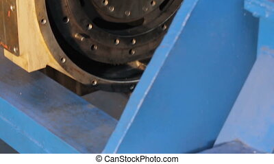 the flywheel of the engine truck. the overhaul of the...