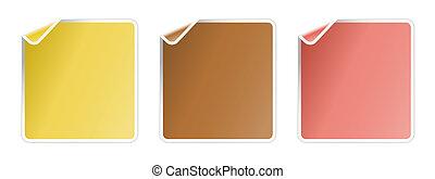 The fold corner label