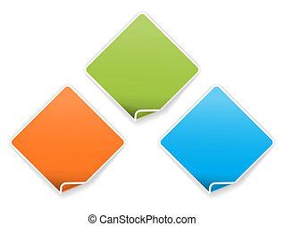 The folded corner label