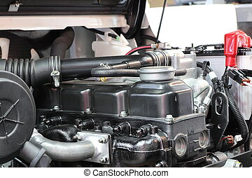 The forklift truck engine