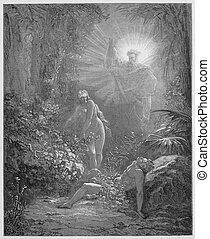 The formation of Eve - Picture from The Holy Scriptures, Old...