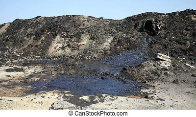 The former dump toxic waste, effects nature from...