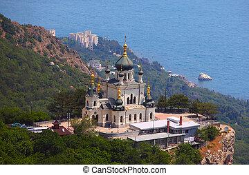 The Foros Church of Christ Resurrection Church in Crimea,...