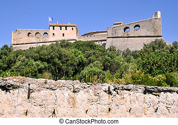 The fort carr? from Antibes in Fran - The fort carr? from ...