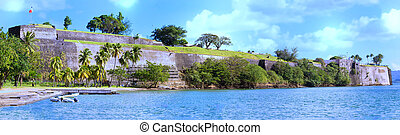 The Fort Saint Louis, Martinique island , French West Indies...