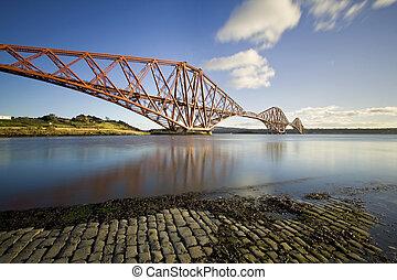 The Forth Rail Bridge, Firth of Forth, Edinburgh, Scotland