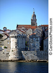 The fortified city of Korcula