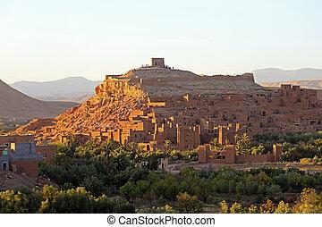 The fortified town of Ait ben Haddou near Ouarzazate Morocco...