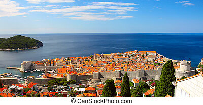 The fortress Dubrovnik - The fortress of Dubrovnik from the ...