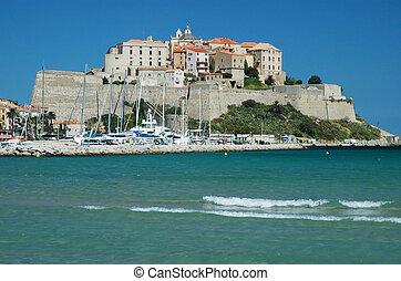 The fortress of Calvi, Corsica