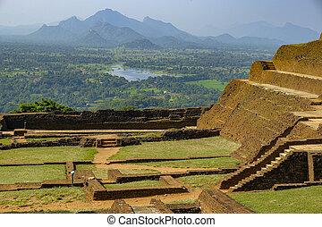 Sigiriya, Sri Lanka. - The fortress of Sigiriya Rock in ...
