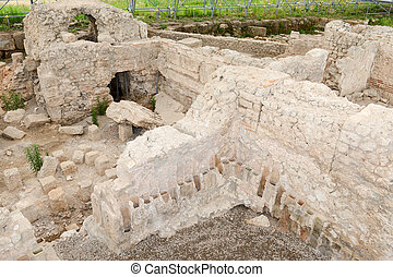 The forum baths of the ancient Roman ruins in Egnazia