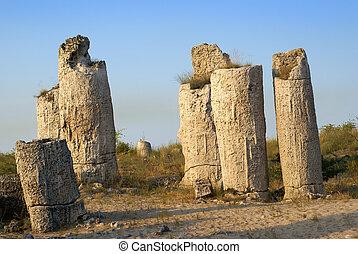 Rock formation, near to Varna city, Bulgaria