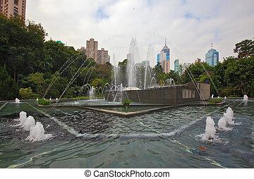 The fountain  in Hong Kong