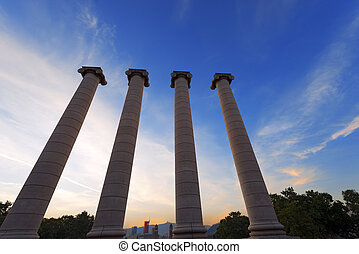 The Four Columns - Barcelona Spain