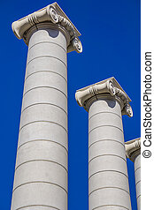 The Four Columns in Barcelona, Spain