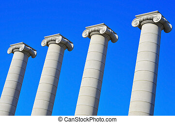 The Four Columns of Puig i Cadafalch in Barcelona, Spain
