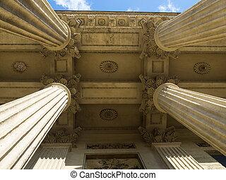 The four columns.